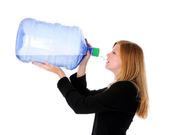 Pregnant Woman Drinking Lots Of Water