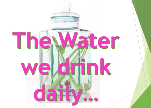Distilled Water with fresh herbs or juice