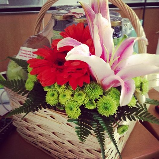 Flowers from my office mates